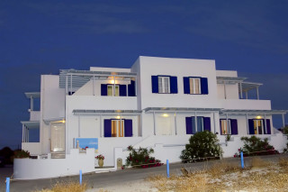 milos villa sosanna apartment complex night